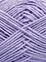 Fiber Content 65% Cotton, 35% Acrylic, Light Lilac, Brand ICE, Yarn Thickness 2 Fine  Sport, Baby, fnt2-37112