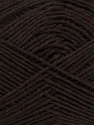Fiber Content 65% Cotton, 35% Acrylic, Brand Ice Yarns, Dark Brown, Yarn Thickness 2 Fine  Sport, Baby, fnt2-37117