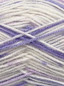 Fiber Content 90% Acrylic, 10% Polyamide, White, Lilac Shades, Brand ICE, fnt2-37359