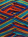 Fiber Content 100% Acrylic, Turquoise, Orange, Maroon, Brand ICE, Blue, Yarn Thickness 2 Fine  Sport, Baby, fnt2-37986