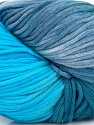 In this yarn a 100% Cotton lase yarn is used. Dyeing process is totally hand made with natural plants and NO chemicals were used. For this reason, please be advised that some white parts may remain. Fiber Content 100% Cotton, White, Brand ICE, Blue Shades, fnt2-39231