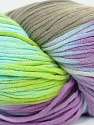 In this yarn a 100% Cotton lase yarn is used. Dyeing process is totally hand made with natural plants and NO chemicals were used. For this reason, please be advised that some white parts may remain. Fiber Content 100% Cotton, White, Turquoise, Lilac, Brand ICE, Blue, fnt2-39237