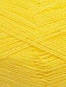 Very thin yarn. It is spinned as two threads. So you will knit as two threads. Yardage information is for only one strand. Fiber Content 100% Acrylic, Yellow, Brand Ice Yarns, Yarn Thickness 1 SuperFine  Sock, Fingering, Baby, fnt2-39399