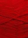 Very thin yarn. It is spinned as two threads. So you will knit as two threads. Yardage information is for only one strand. Fiber Content 100% Acrylic, Brand ICE, Dark Red, fnt2-39403