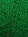 Very thin yarn. It is spinned as two threads. So you will knit as two threads. Yardage information is for only one strand. Fiber Content 100% Acrylic, Brand ICE, Green, fnt2-39407