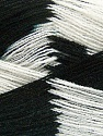 Very thin yarn. It is spinned as two threads. So you will knit as two threads. Yardage information if for two strands. Fiber Content 100% Acrylic, White, Brand ICE, Black, fnt2-39622