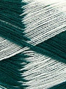 Very thin yarn. It is spinned as two threads. So you will knit as two threads. Yardage information if for two strands. Fiber Content 100% Acrylic, White, Brand ICE, Dark Green, fnt2-39627