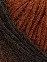Please note that the yarn is a self-striping yarn. See package photos for the color appaerance Fiber Content 60% Acrylic, 40% Wool, Brand ICE, Dark Brown, Brown, fnt2-39683
