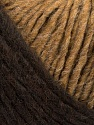 Please note that the yarn is a self-striping yarn. See package photos for the color appaerance Fiber Content 60% Acrylic, 40% Wool, Brand ICE, Camel, Brown, fnt2-39684