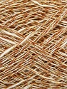 Fiber Content 8% Metallic Lurex, 59% Cotton, 33% Viscose, White, Brand ICE, Gold, Copper, fnt2-39885
