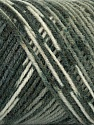 Fiber Content 50% Wool, 50% Acrylic, White, Brand ICE, Grey Shades, Yarn Thickness 3 Light  DK, Light, Worsted, fnt2-39909