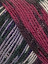 Fiber Content 50% Wool, 50% Acrylic, Purple, Lilac, Brand ICE, Fuchsia, Black, Yarn Thickness 3 Light  DK, Light, Worsted, fnt2-39915