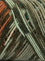 Fiber Content 50% Wool, 50% Acrylic, Brand ICE, Green Shades, Copper, Yarn Thickness 3 Light  DK, Light, Worsted, fnt2-39916