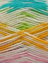Fiber Content 50% Acrylic, 50% Polyamide, Yellow, White, Turquoise, Pink, Lilac, Brand Ice Yarns, Green, Yarn Thickness 2 Fine  Sport, Baby, fnt2-40196
