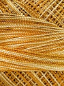 Fiber Content 100% Micro Fiber, Brand Ice Yarns, Gold, Cream, Yarn Thickness 0 Lace  Fingering Crochet Thread, fnt2-40200