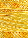 Fiber Content 100% Micro Fiber, Yellow Shades, Brand Ice Yarns, Yarn Thickness 0 Lace  Fingering Crochet Thread, fnt2-40201