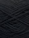 Fiber Content 100% Polyamide, Brand Ice Yarns, Black, Yarn Thickness 3 Light  DK, Light, Worsted, fnt2-40614