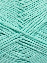 Please note that the yarn weight and the ball length may vary from one color to another for this yarn. İçerik 100% Pamuk, Mint Green, Brand ICE, Yarn Thickness 3 Light  DK, Light, Worsted, fnt2-40914