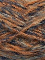 Fiber Content 43% Acrylic, 27% Polyamide, 15% Mohair, 15% Wool, Orange, Navy, Brand Ice Yarns, Blue, Beige, Yarn Thickness 5 Bulky  Chunky, Craft, Rug, fnt2-41167