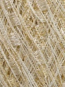 Trellis  Fiber Content 95% Polyester, 5% Lurex, Brand Ice Yarns, Gold, Cream, Yarn Thickness 5 Bulky  Chunky, Craft, Rug, fnt2-42099