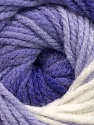 Fiber Content 100% Acrylic, White, Lilac Shades, Brand Ice Yarns, Yarn Thickness 5 Bulky  Chunky, Craft, Rug, fnt2-42176
