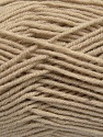 Fiber Content 50% Wool, 50% Acrylic, Latte, Brand Ice Yarns, Yarn Thickness 4 Medium  Worsted, Afghan, Aran, fnt2-42533