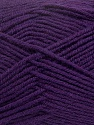 Fiber Content 50% Wool, 50% Acrylic, Purple, Brand Ice Yarns, Yarn Thickness 4 Medium  Worsted, Afghan, Aran, fnt2-42543