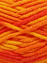 Fiber Content 80% Acrylic, 20% Wool, Yellow, Orange Shades, Brand Ice Yarns, Yarn Thickness 6 SuperBulky  Bulky, Roving, fnt2-42581
