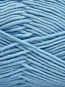Fiber Content 50% Acrylic, 50% Cotton, Light Blue, Brand Ice Yarns, Yarn Thickness 2 Fine  Sport, Baby, fnt2-42591