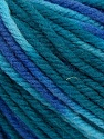 SUPERWASH WOOL BULKY is a bulky weight 100% superwash wool yarn. Perfect stitch definition, and a soft-but-sturdy finished fabric. Projects knit and crocheted in SUPERWASH WOOL BULKY are machine washable! Lay flat to dry. Fiber Content 100% Superwash Wool, Teal, Brand Ice Yarns, Blue Shades, Yarn Thickness 5 Bulky  Chunky, Craft, Rug, fnt2-42856