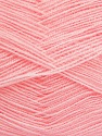 Very thin yarn. It is spinned as two threads. So you will knit as two threads. Yardage information is for only one strand. Fiber Content 100% Acrylic, Light Pink, Brand Ice Yarns, Yarn Thickness 1 SuperFine  Sock, Fingering, Baby, fnt2-42862