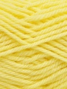 Machine washable. Lay flat to dry Fiber Content 80% Superwash Virgin Wool, 20% Acrylic, Light Yellow, Brand Ice Yarns, Yarn Thickness 4 Medium  Worsted, Afghan, Aran, fnt2-43426