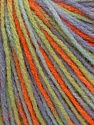Fiber Content 100% Acrylic, Orange, Lilac, Brand Ice Yarns, Green, Yarn Thickness 2 Fine  Sport, Baby, fnt2-43700