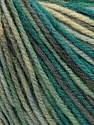 Fiber Content 100% Acrylic, Turquoise Shades, Brand Ice Yarns, Grey Shades, Cream, Yarn Thickness 2 Fine  Sport, Baby, fnt2-43714