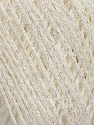 Fiber Content 70% Viscose, 30% Metallic Lurex, Irridescent, Brand Ice Yarns, Cream, fnt2-43752