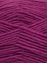 Machine washable. Lay flat to dry Fiber Content 60% Superwash Virgin Wool, 40% Acrylic, Brand Ice Yarns, Dark Orchid, fnt2-43812