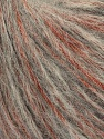 Fiber Content 60% Baby Alpaca, 30% Polyester, 10% Merino Wool, Brand Ice Yarns, Grey, Copper, fnt2-43990