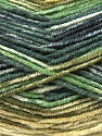 Fiber Content 45% Wool, 45% Bamboo, 10% Acrylic, Brand Ice Yarns, Green Shades, Dark Grey, Yarn Thickness 3 Light  DK, Light, Worsted, fnt2-44526