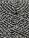 Fiber Content 50% Micro Acrylic, 50% Bamboo, Brand Ice Yarns, Grey, Yarn Thickness 3 Light  DK, Light, Worsted, fnt2-44594