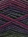 Fiber Content 90% Acrylic, 10% Polyamide, Purple, Maroon, Brand Ice Yarns, Green, Burgundy, Yarn Thickness 4 Medium  Worsted, Afghan, Aran, fnt2-45229