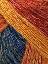 Please note that this is a self-striping yarn. See package photo for the color change. Fiber Content 62% Acrylic, 28% Wool, 10% Polyamide, Yellow, Red, Orange, Brand Ice Yarns, Green, Blue, fnt2-45258