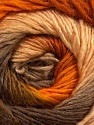 Fiber Content 50% Acrylic, 50% Wool, Orange, Brand Ice Yarns, Gold, Camel, Brown, Yarn Thickness 2 Fine  Sport, Baby, fnt2-45314