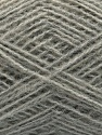 Fiber Content 50% Acrylic, 25% Alpaca, 25% Merino Wool, Light Grey, Brand Ice Yarns, fnt2-45635