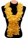Please be advised that this is not a yarn, but a pre-made item. Fiber Content 95% Acrylic, 5% Sequin, Yellow, Brand ICE, smp-614