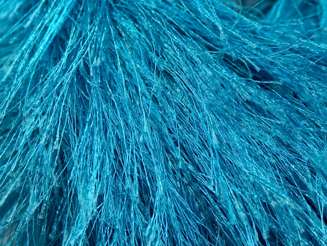 Eyelash Yarn : Long Eyelash Turquoise, Eyelash Yarns Yarn Paradise