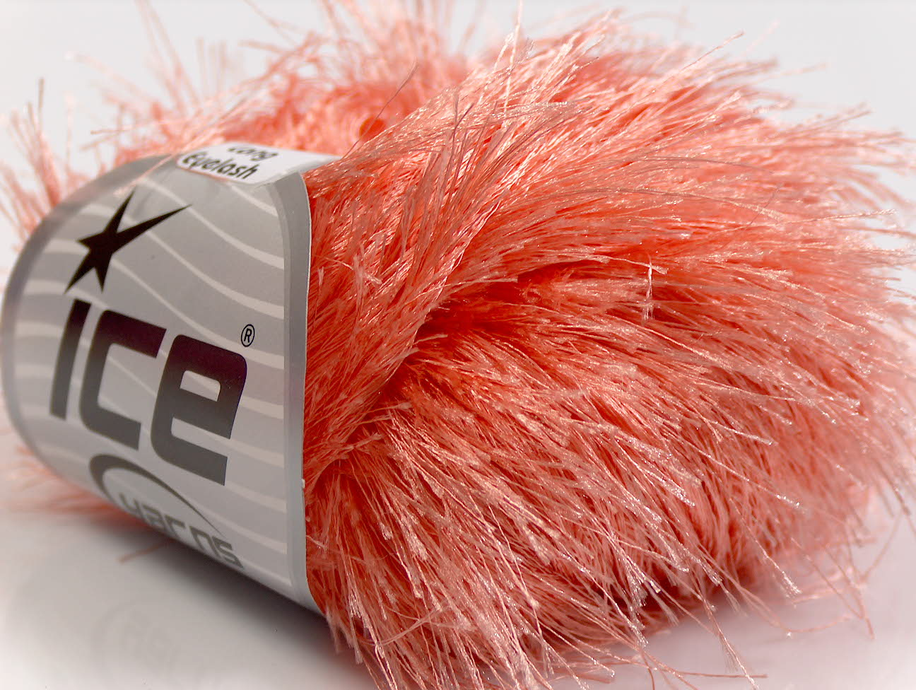 Eyelash Yarn : Long Eyelash Light Salmon at Ice Yarns Online Yarn Store