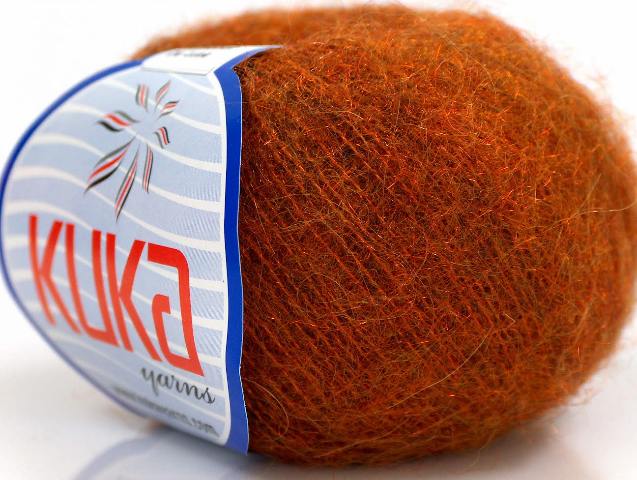 Mohair Yarn : Kid Mohair DeLuxe Orange at Ice Yarns Online Yarn Store