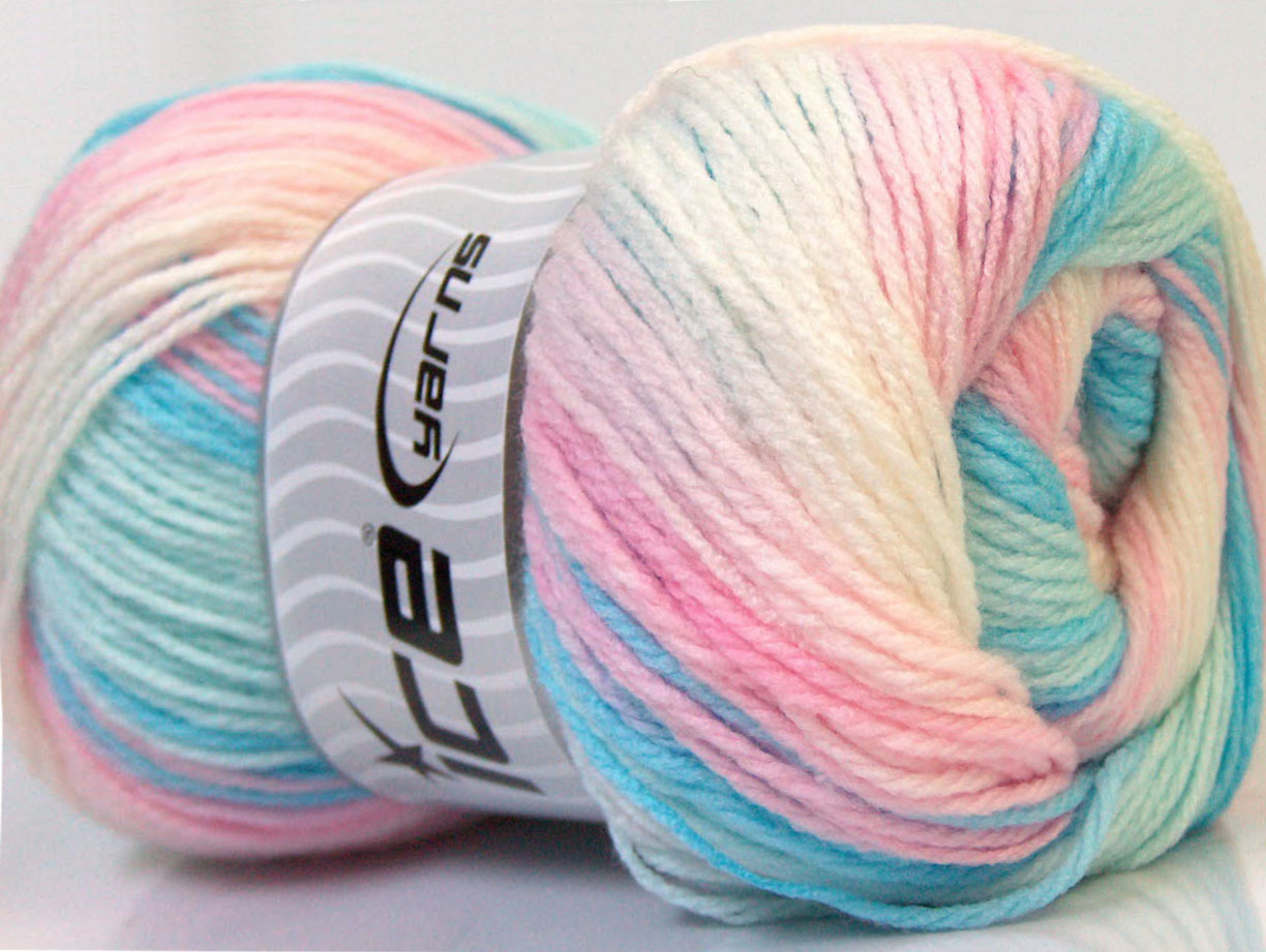 Magic Baby White Pink Blue, Baby Yarns Ice Yarns Online Yarn Store