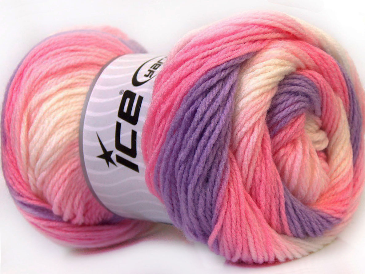Baby Yarn : Magic Baby White Pink Lilac at Ice Yarns Online Yarn Store