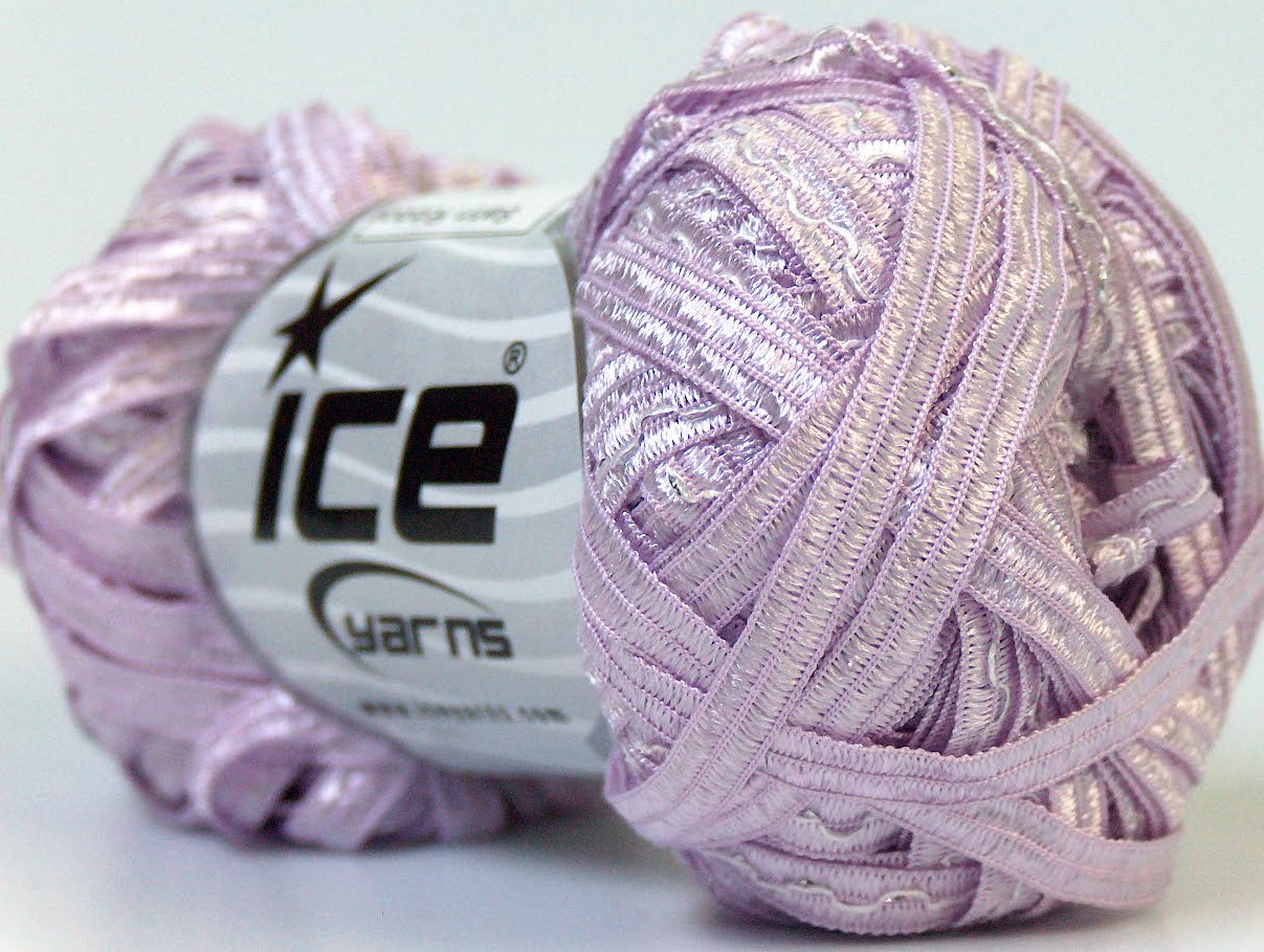 Ribbon Yarn : Satin Ribbon Lilac, Ribbon - Ladder Yarns Ice Yarns Online Yarn ...
